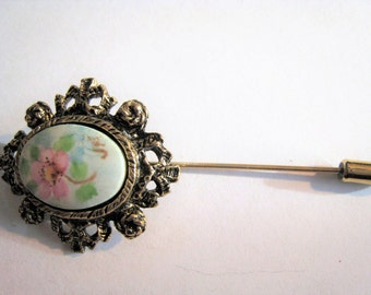 Flower Picture Stick Pin