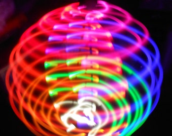 Rainbow Solid Color ED Hula Hoop - 20 Rainbow Solid Color LEDs - Rechargeable Li-Ion