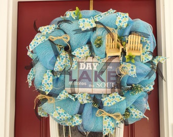 Day at the Lake Door Wreath Decoration W51