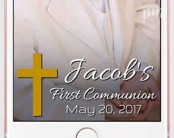 First Communion Snapchat Geofilter, Communion Geofilter, Holy Communion Geofilter