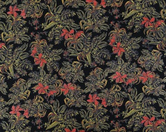 "Decorative Fabric, Dress Material, Floral Printed Fabric, Black Fabric, Home Decor, 43"" Inch Rayon Fabric By The Yard ZBR270B"