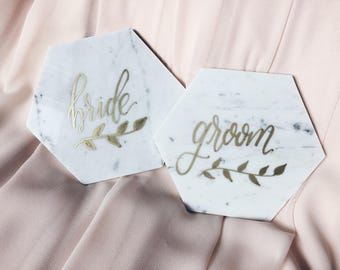 Marble Bride and Groom Tiles