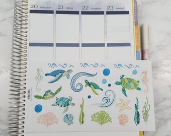 Sea Turtle and Ocean Stickers