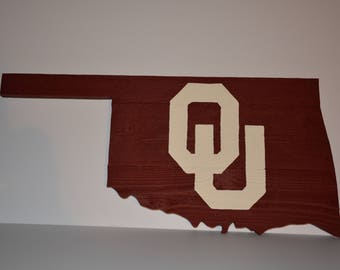 Oklahoma Sign, Rustic Home Decor, Reclaimed Wood Oklahoma, Oklahoma, Oklahoma Wood Sign, Oklahoma Sooners, Wood Sign, Oklahoma University