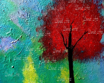 My Single Tree Side Download Printable DIY Print of Acrylic Painting on Canvas