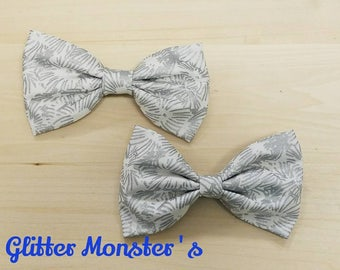 Classic Silver and White Bow Tie,Infant-Adult Bow Tie, Mens Ties, Boys Tie, Bow Ties, Mens Bow Ties, Boys Bow Tie, Wedding Bow Tie, Bowtie