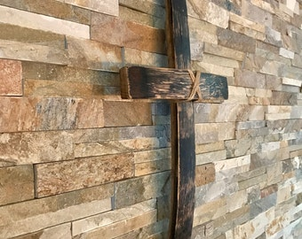 Cross - rustic wall cross - wooden cross - barrel craft - brandy barrel - Scotch whisky - oak cross - religious cross - Easter