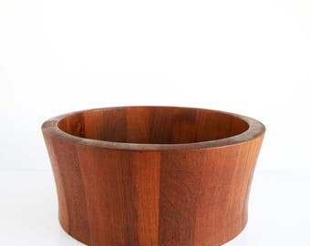 Danish modern Large Staved Teak Richard Nissen Bowl