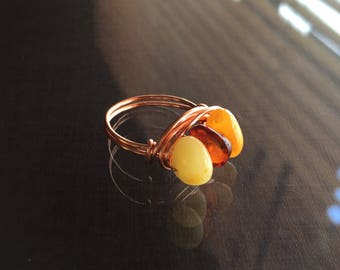 Amber Ring - US Size 5.5