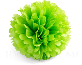 Apple Green Tissue Paper Pom Poms - Wedding Party Decorations - Baby shower Decorations