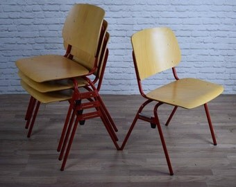 Vintage Industrial Style Stacking Cafe Bar Kitchen Chairs (50 AVAILABLE)