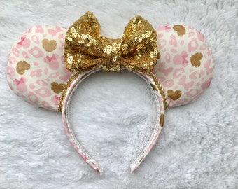Leopard Minnie Mouse Print Minnie Ears