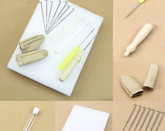 Needle Felting Starter Kit Wool Felt Tools Mat Needle Accessories Craft Set DIY