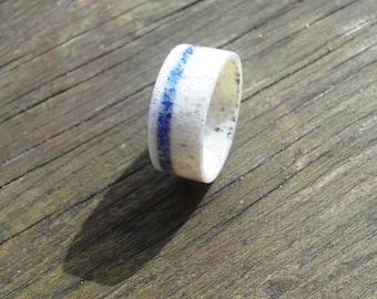 Deer Antler Ring with Lapis Lazuli, Wedding Ring, Engagement Ring, Deer Antler Ring, Mens Ring, Bone Ring