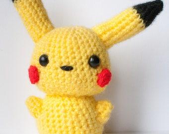 Pokemon Pikachu Plush-Amigurumi-Kawaii