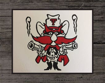 Texas Tech Red Raiders Painting
