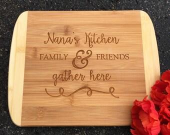 Engraved Cutting Board,Nana's Kitchen,Personalized Cutting Board,Shower Gift,Wedding Gift,Anniversary Gifts,Housewarming Gift,Laser Engraved