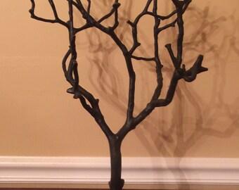 Vintage Sculpture of Tree in Blackened Brass