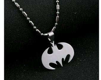 Batman Necklace,  Pendant,  Charm,  Silvertone
