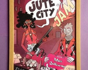 Jute City Jam #3 - Funk Soul Art Print 60s 70s - A3 Poster