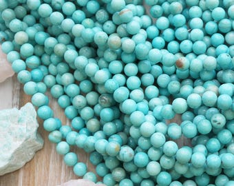 8mm A Grade, Larimar Rounds, Jewelry Supply, Light Blue Gemstone
