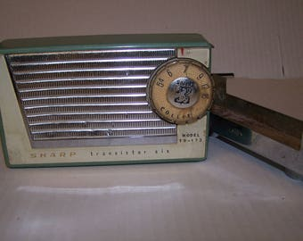 Rare 1950's Sharp Transistor Radio with Magnetic Dashboard Mount