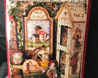 Between the vines~Jamie Mills~folk Art painting Book
