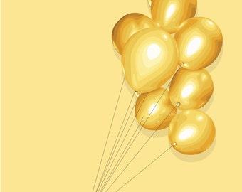 Balloons Square Print