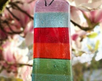 Rainbow suncatcher, garden or inside made from glass