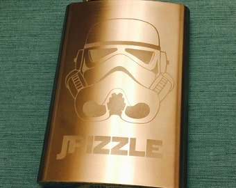Etched 8oz Flask