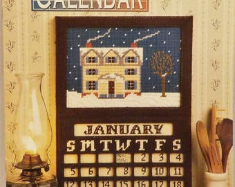 Plastic Canvas Perpetual Calendar Summer Fall Winter Spring Pattern by Annies Attic