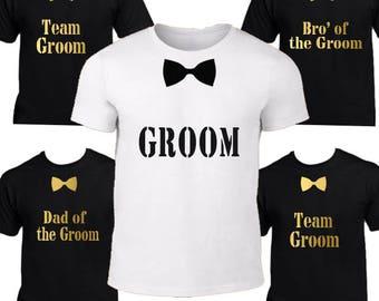 Groom t-shirt,  Groomsmen Shirt, Bachelor Party, Groom shirt,  Groom gift,  Groomsmen Tshirt, Groom top, groom, groomsmen gift