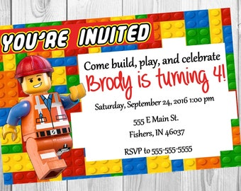 Lego Friends invitation printable digital print