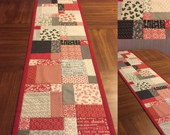 Valentine's Day First Crush Table Runner