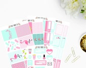 Fancy Flamingo Planner Sticker Kit for Use With, Erin Condren, Life Planner, Happy Planner, Mambi, Planner Stickers