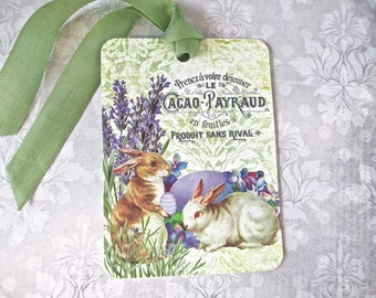 Tags, Gift Tags, Easter, Easter Tags, Bunny Tags, Rabbit Tags, French Tags