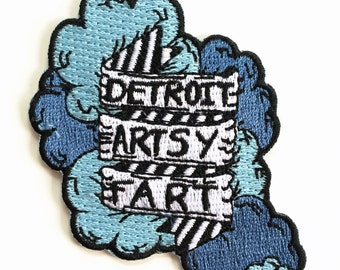 Detroit Artsy Fart Cloud Patch