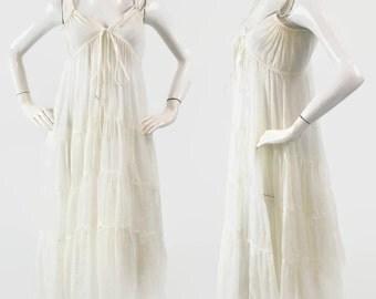Classy and Elegant Long Maxi Dress, A Line Splash Dress, Sleeveless Dress,  White, Sizes S, M, L