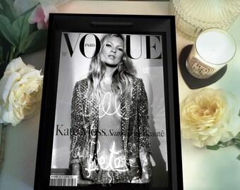Kate Moss Vogue Paris 'Sequins' Wood Tray - Black