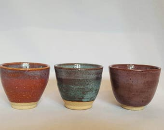 Handmade Pottery Bowls - Set of 3.