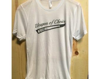 Weapon Of Choice Black & White SubliVie T-Shirt/ Walking Dead Tee Shirt/ Lucille