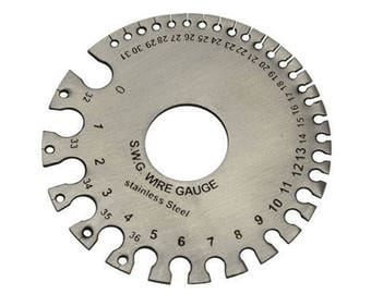 Stainless Steel SWG Wire Gauge Measure Wire Thickness Sheet Steel SWG & MM