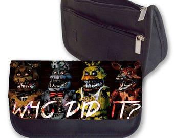 Five Nights at Freddy's WHO DID IT pencil case/ Make up or Clutch Bag