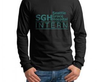 SGH Intern Green Seattle Grace Hospital on Longsleeve MEN tee