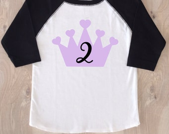 Birthday Girl Shirt/Any Year/Little Girl Birthday/Princess Birthday/Birthday Princess Shirt/Little Girl Birthday Outfit