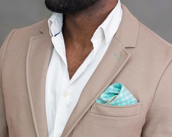 Electric green dotted pocket square