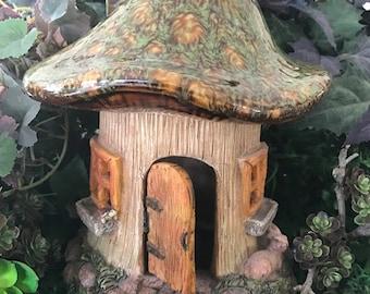 Miniature Mushroom Fairy House