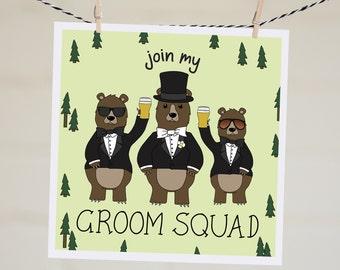 Join My Groom Squad Card | Funny Groomsman Proposal Card | Will You Be My Groomsman | Groomsman Card | Best Man Card | Groomsmen Invitation
