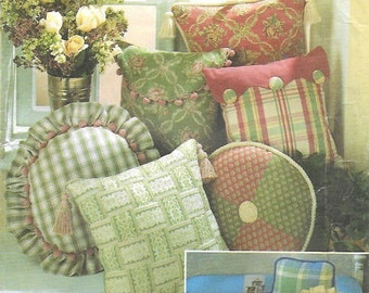 Vintage Home Decor 11 Kinds of Pillows Chair Round Square Neck UNCUT Sewing Pattern Simplicity 8859 & Round pillow pattern | Etsy pillowsntoast.com