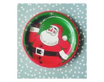 Christmas Party Decorations. Christmas Plates. Christmas Party Decor. Santa Claus. Vintage Christmas. Santa Claus Plates